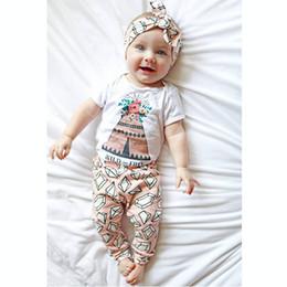Wholesale Girls Floral Harem Pants - 2017 New Summer Baby Girl Clothing Sets Newborn Short Sleeve Floral Rompers+Diamond Harem Pants 2pcs Set Toddler Onesies Suit Infant Outfits