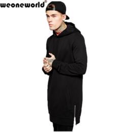 Wholesale Purple Wizard - Wholesale-WEONEWORLD Fashion High Street Men's Hip Hop Jacket Grey Black Spring Autumn Long Cardigan Wizard Hoodies Cloak Cape Coat S-2XL