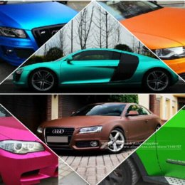Wholesale Matte Chrome Vinyl Wrap - New 152*30CM Polymeric PVC Matte Chrome Vinyl Car Wraps Sticker Color Changing Car Sticker With Air Bubble Car Styling