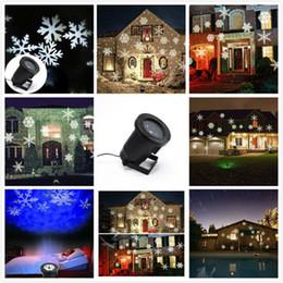Wholesale Spotlight Housing - Multicolor White Snow Moving LED Laser Light for Landscape House Outdoor Christmas Garden lawn spotlight Halloween, Christmas, EU US UK