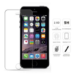 Wholesale Iphone 4s Screen Kit - Premium 9H 2.5D 0.3mm Tempered Glass Screen Protector for iPhone 7 Plus 6S Plus 6 5 5C 5S SE 4S 4 Protective Film + Cleaning Kit