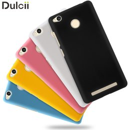 Wholesale Mobile S Bag - Wholesale- Cover for Xiaomi Redmi 3 s 5.0 inch Mobile Phone Bag Case Shell Hard Cases Rubber Coating PC Hard Case for Xiomi Redmi 3s