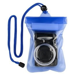 Wholesale Underwater Digital Video Camera - High Quality Digital DSLR Camera Waterproof Bags Video Underwater Housing Cases Underwater Diving Floating Pouch for Camera