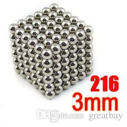 Wholesale Metal Puzzle Toy - 216Pcs 3mm Shapable Magnetic Balls Neo Cube Magic Cube Magnets Puzzle Fidget Toys High quality Anti Stress Cube Kids' Gift with Metal B