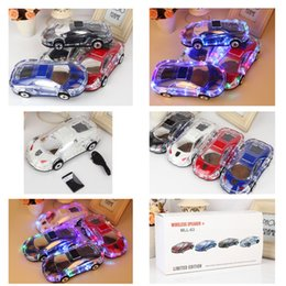 Wholesale Model Cars Led Lights - Cool Car MLL-63 V18 Speaker Car Model With LED Light Speaker Support TF Card USB MP3 Player And Handsfree Sound Sound &Super Bass Speaker