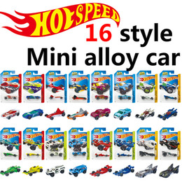 Wholesale Hot Wheels Mini Cars - LR1004 hot wheels Mini metal Basic Cars Alloy Diecast Vehicle model 1:64 Racing car Pickup kids toys wholesale (Single loaded 16style)