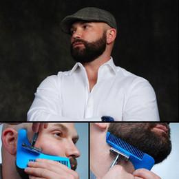 Wholesale Hair Template - Beard Bro Shaping Tool Styling Template BEARD SHAPER Comb for Template Beard Modelling Tools Gentleman Modelling Comb New 3006038