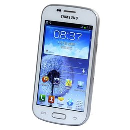 Wholesale Refurbished Android Phones - Unlocked Cell Phone Original Samsung GALAXY Trend Duos S7562i 4.0Inch ROM 4GB WIFI GPS Blluetooth 3G WCDMA Android phone