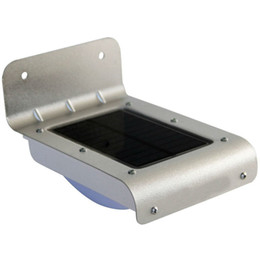 Wholesale Motion Detector Security Light - Wholesale- LED Solar Motion Light 16 LED Wall Stairway Mount Motion PIR Sensor Detector Dectection Path Security Lamp for Garden Yard