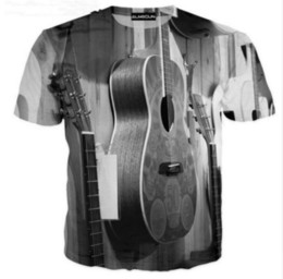 Wholesale Xl Disco Shirt Men - 2017 Newest Fashion Mens Womans Music Guitar DJ Disco Summer Style Funny 3D Print Casual T-Shirt Tops Plus Size AA152