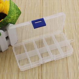 wholesale plastic compartment cases Promo Codes - Wholesale-Practical Adjustable Plastic 10 Compartment Storage Box Case Bead Rings Jewelry Display Organizer Container ToolBox 65*130*21mm