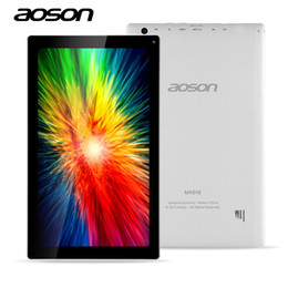 Wholesale Tablet Pc W Dual Camera - Wholesale- Cheap-Sale 10.1 inch Android Tablet Aoson M1016 Updating M1016c-w Quad Core Allwinner A33 1G 8G Dual Camera WIFI Smart Tablet PC