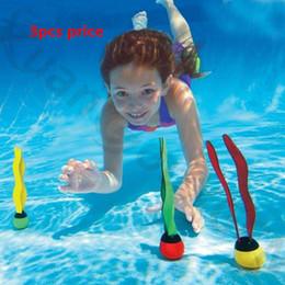 3 unids nadar bajo el agua playa niño buceo piscina entrenamiento juguete hundimiento divertido bolas de buceo juguetes algas boya de buceo desde fabricantes