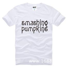 Wholesale Crow Pumpkin - 2017 new fashion Rock smashing pumpkins loose version Printed Mens Tshirt Short Sleeve Cotton T-shirt Tee