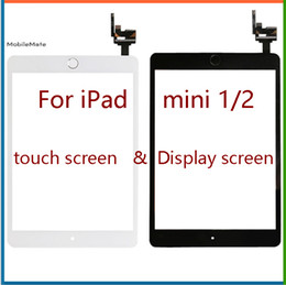 Wholesale Mini Ipad Touch - Free shipping or ems 100% Completed For iPad mini 1 mini 2 Touch Digitizer Screen With IC & Home Button Flex Cable