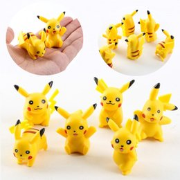 Wholesale Pokemon Ornament - New cartoon toys for Child 2-3cm Little Figurine Poke action figures Small Classic Pikachu Micro landscape furnishing articles I091