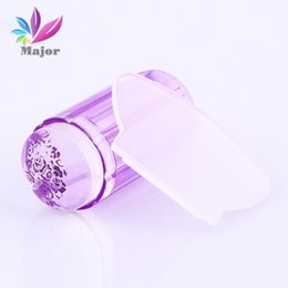 Wholesale Nail Polish For Stamper - Wholesale- 2.8CM Refill Head For Transparent Stamp Nail Art Clear Jelly Stamper Scraper Tool Set Manicure Polish Stamp Image Tool Kit