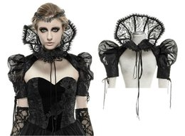 Wholesale vest turtleneck - Wholesale- Gothic Victorian women Aristocrat short jacket,Punk Rave,Regency,hight collar.free shipping