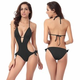 Wholesale Hot Sexy Monokini - Hot Selling Much Valuable Vintage Strappy Push up Swimsuit 2017 Women's Crochet Sexy monokini S.M.L.XL Free shipping