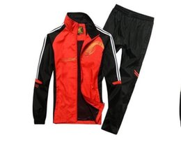 Wholesale Best Selling Clothes - 2017 Best-selling spring and autumn men sport suit adult early morning runs men tracksuits adult clothing size L-5XL 4 colors 1288.