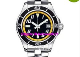 Wholesale Luxury Watches Superocean - Luxury watch Mens Superocean 42 Black and Yellow Dial Steel Automatic Mens Watch A1736402-BA32SS Dive Men's Watches