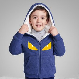 Wholesale Korean Outfits For Girls Kids - Baby Coat Boys Girls Winter Fashion Clothes 100% Cotton Seven Colors New Korean Jacket Children Hoodie Outfits for 3-12Y Kids Clothing