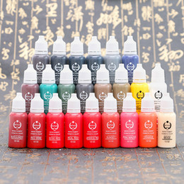 Wholesale Biotouch Pigments - 23 colors biotouch tattoo ink set pigments permanent makeup 15ml cosmetic color tattoo ink for eyebrow eyeliner lip