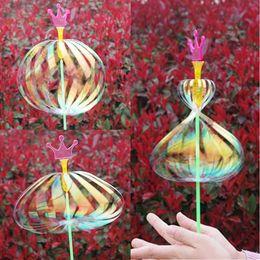 Wholesale Wholesale Toys Bubble Wand - Amazing Twister Flash Magic Wand LED Light Sticks With Diverse Flower Colorful Ribbon Bar Bubble Wand Toys For Kids