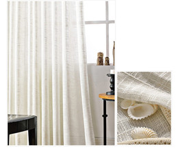 Wholesale Simple Ceiling For Bedroom - Hot sale modern simple pure white Translucidus linen cotton window sheer curtains voile for living room bedroom 1pcs wholesale fabric price