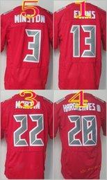 Wholesale Elite 13 - 2017 Elite Football Stitched #3 Jameis Winston #13 Mike Evans #22 Doug Martin #28 Hargreaves Red Jerseys Mix Order