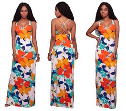 Wholesale Cheap Night Dresses For Women - Hawaiian Floral Print Maxi Dress For Women Gracefull Floor Length Dresses  S-XL   Wholesale Cheap DHL Fast Shipping