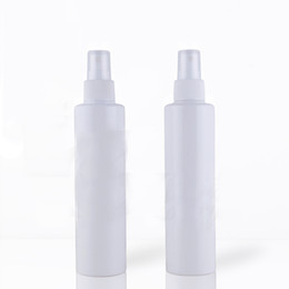 Wholesale Bamboo Cosmetic Packaging - Wholesale- 10Pcs Lot Cosmetic 200ML Long Thick White Spray Bottle For Skin Care Perfume Package, Plastic Water Bottles