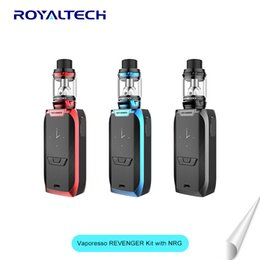 Wholesale Pc First - 1 PCS Vaporesso Revenger Starter Kit Free Shipping 5ML 100% Original 220W Vape Kit NRG Tank The First Batch