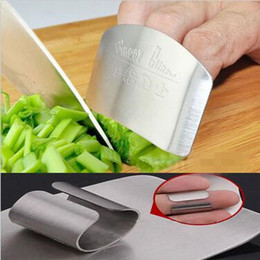 Wholesale Metal Finger Guard Protector - Finger Guard Protect Finger Hand Not To Hurt Cut Stainless Steel Hand Protector Knife Cutting Finger Protection Tools CCA6458 50pcs
