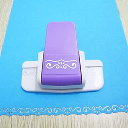 Wholesale Free Card Making - Wholesale- Free shipping New Fancy foam border hole punch flower printing machine greeting card making tools for children