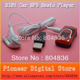 Venta al por mayor - Venta al por mayor Venta caliente mini estilo de coche reproductor de música mp3 soporte tarjeta Micro SD / TF con earphonemini usb envío gratis desde fabricantes