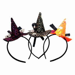 Wholesale Witch Bracelets - Halloween party props new witch bracelet party props hair ornaments hoop witch head hoop witch hair hoop three colors optional