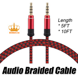 Wholesale Wholesale Audio Video - 1.5M 3M AUX audio cable 3.5mm Jack 3.5 mm male to male stereo AUX Cable for Headphone Car Speaker Computer