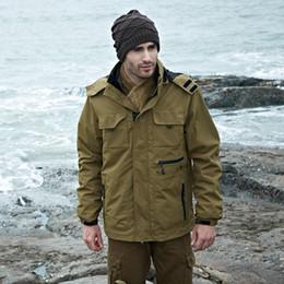 Vestiti dell'esercito britannico del Regno Unito Uomini tattici casuali Autunno inverno impermeabile Pilot Coat cappotto fodera militare staccabile fodera da