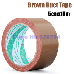 Wholesale Duct Cloth - Wholesale- 2016 5cmx10M Single-sided Brown Carpet Cloth Duct Tape Multi-Purpose Durable Waterproof Easy Tear Free shipping