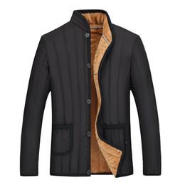 Wholesale Mens Winter Down Coats Sale - Wholesale- 2017 Hot Sale men's winter collar fashion down cotton men jackets business casual warm coat mens jacket