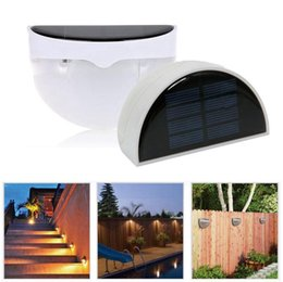 Wholesale Solar Fence Wall Lights - LED Solar Power Light Sensor N760B Wall Mount Light Fence Yard Lamp Light Control Wall Lights OOA2291
