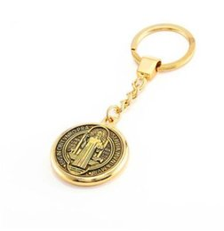 Wholesale Catholic Virgin Mary - gold Catholic VIRGIN MARY centerpiece keychain Christian Religious key ring pendant Girl Bag Charm church gift Accessories Wholesale