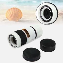 Wholesale Mobile Phone Telescope Camera - Wholesale-White 8X Zoom Magnifier Optical Telescope Camera Lens w Clip for mobile phone mobile Long Focal Lens A273