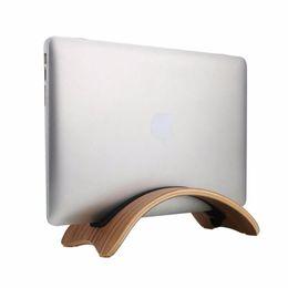Wholesale Laptop Docking - Wholesale- Wood Dock Desk Holder Mount Base Stand Support Display Rack for Macbook Air Pro Laptop Universal Durable Tablet PC Stands