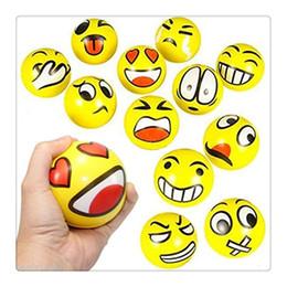 Bolas livres do aperto do stress on-line-Emoji Estresse Espremer Bolas Fidget Sprots Bolas Fidget Stress N pobreza Brinquedo Bolas Mini Macio PU Stress Relief Bola Para Brinquedos Divertidos Livre DHL