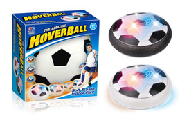 Wholesale disk ball - Air Power Soccer Disk With Led Ball Light Up Football Hover Disc Great Present