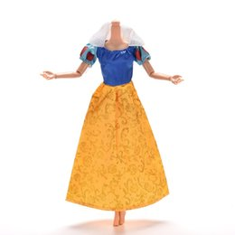 "Wholesale doll clothes for barbies - Handmade Dolls Party Dress Fashion Clothing For Snow White 11"" Barbies Dolls Barbies Accessories"