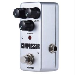 Wholesale Guitar Effect Compressor - Free shipping KOKKO FCP2 Mini Compressor Pedal Portable Guitar Effect Pedal High Quality Guitar Parts Guitarra Effect Pedal
