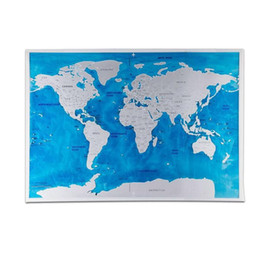 Wholesale Log Off - Scratch Map Of The World Travel Edition Scratch Off World Map Poster Black Traveler Journal Log Gift Home wall Decoration #40
